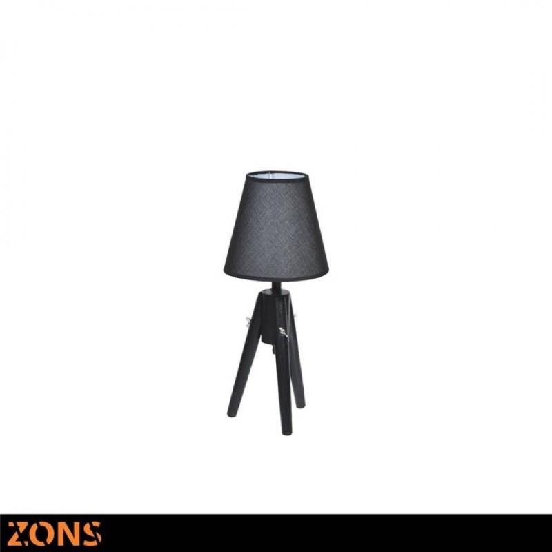 LIVIO lot de 2 Lampes à poser Scandinave BLACK 19.5*19.5*H49cm