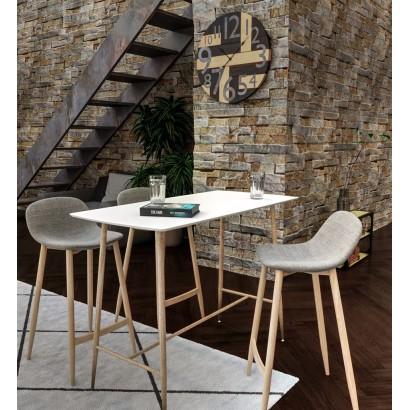 Klary Table Haute Blanche 4 Personnes