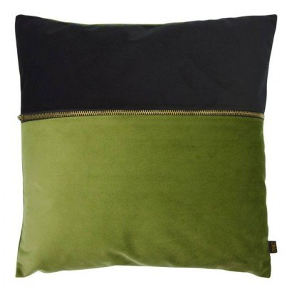 Coussin en velours BLUE AND...