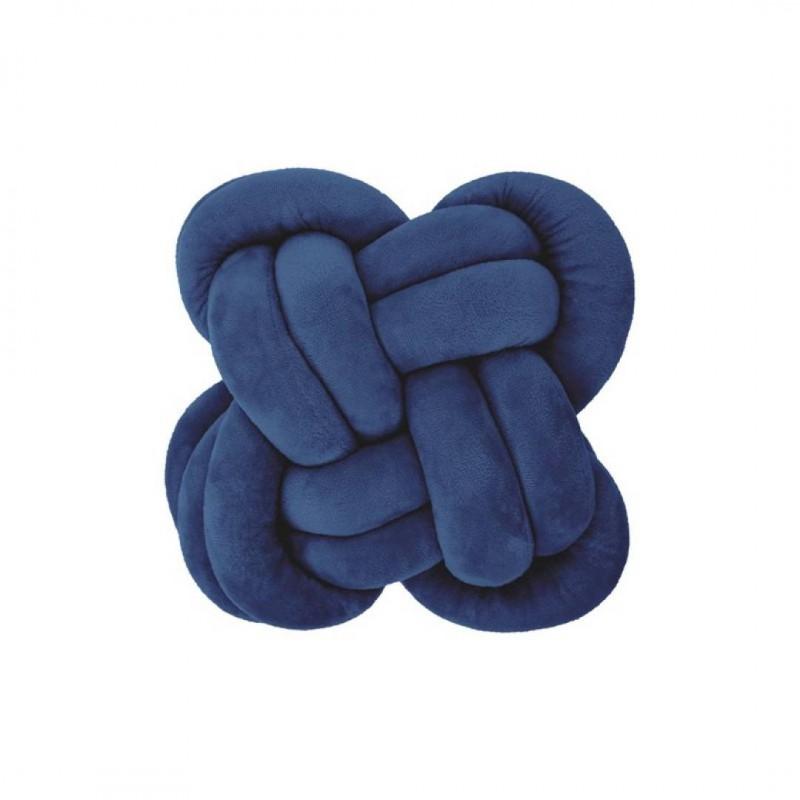 Lot De 2 Coussins Noeud Bleu Pétrole