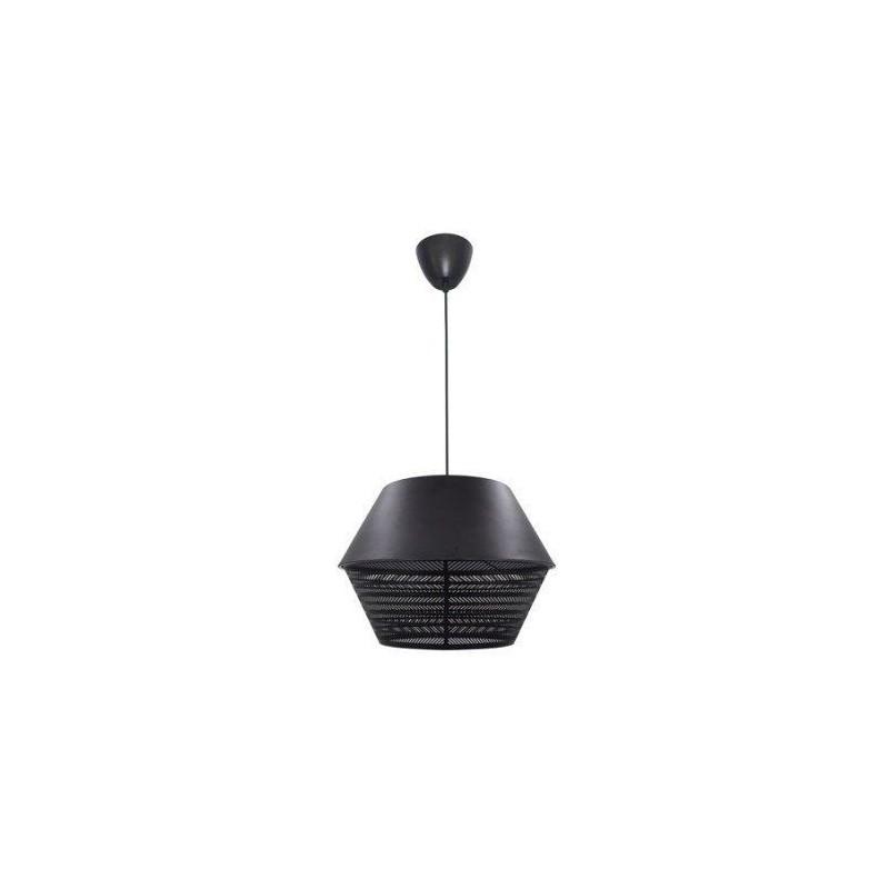 Hanglamp, e27 design Hart metaal zwart 1 x 60 W INSPIRE
