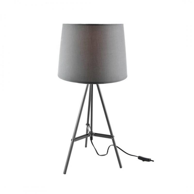 Lampe à poser sur pied +abat jour inclus DELTA Grise H65CM