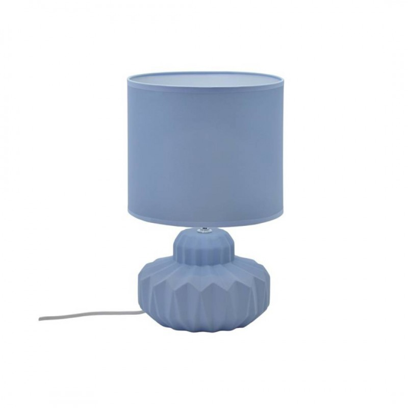 Lavender Blue Matte Ceramic Lamp