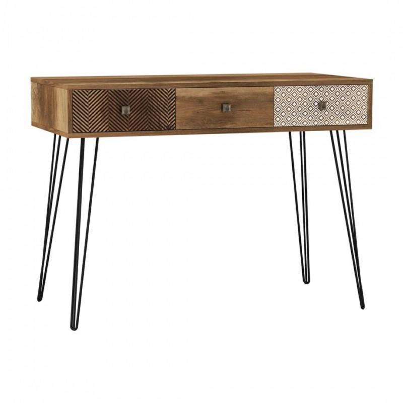Wall table ELLA in wood 100x50cm