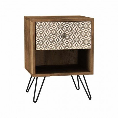 ELLA bedside table in wood...