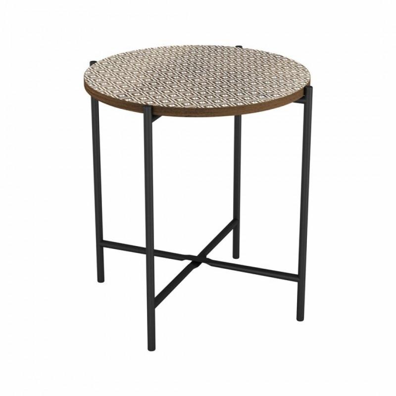Table d'appoint ELLA en bois 40x40xH42cm