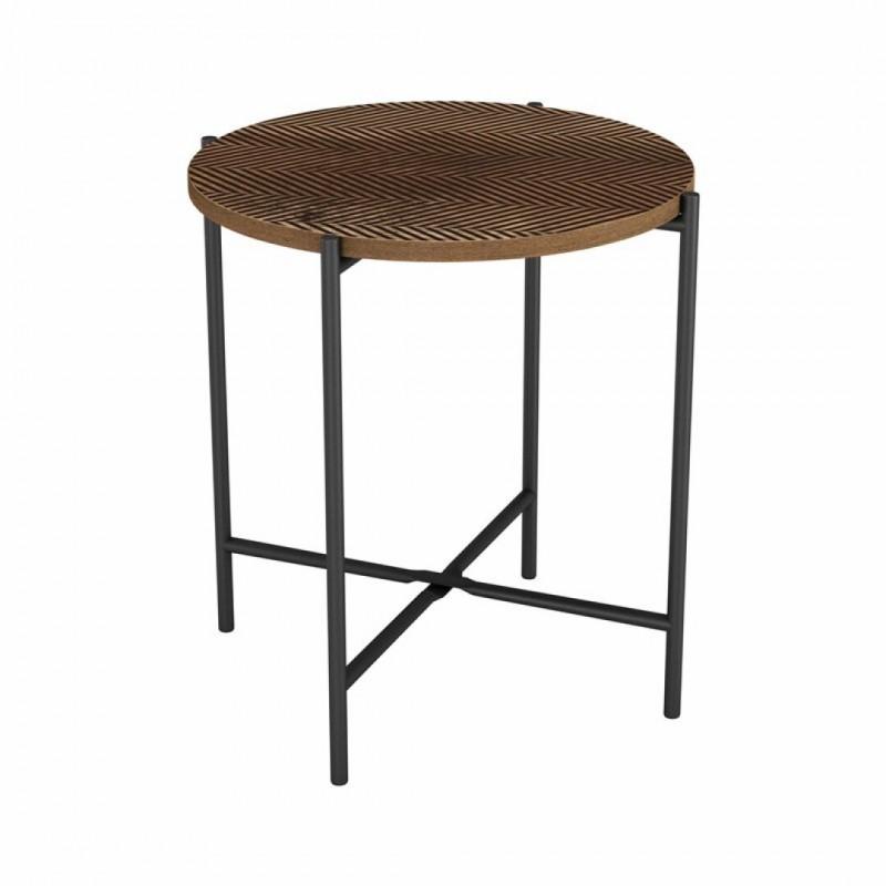 Side table ELLA in wood 40x40xH42cm