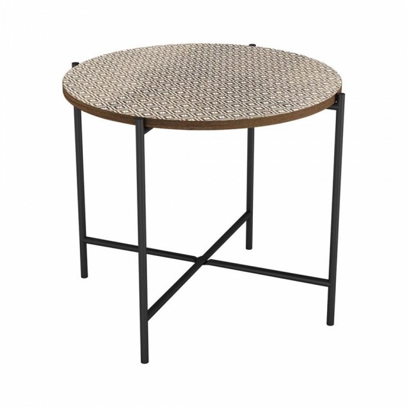 Side table ELLA in wood 50x50xH42cm