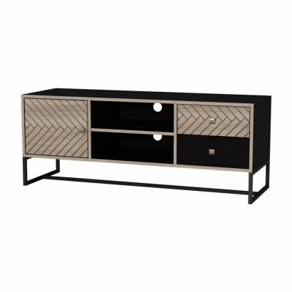 Black LINDA TV cabinet with...