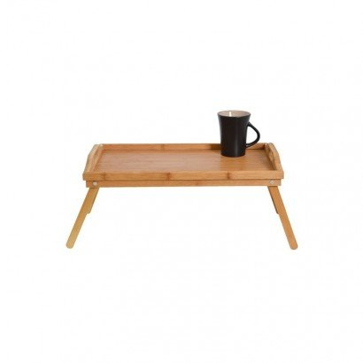 BAMBOO Wooden tray with legs
