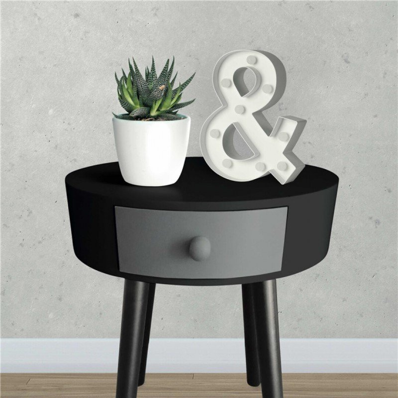 Side table KAMILLE Black and Grey