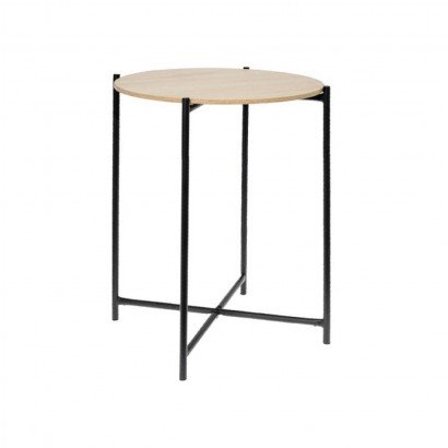 Wood and metal side table...