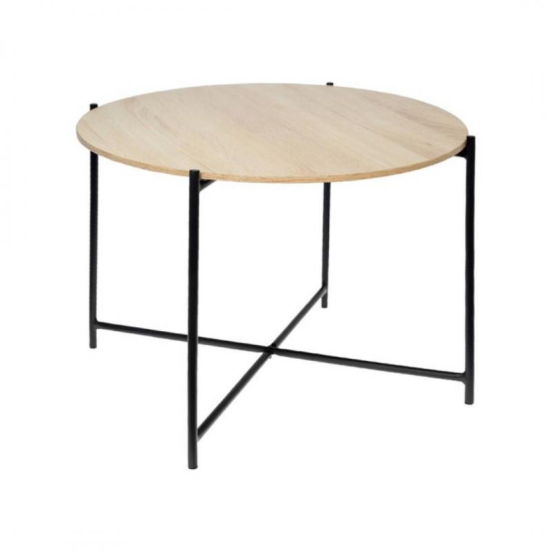 Table d'appoint en bois et en métal ROCK D. 62 x H. 42cm