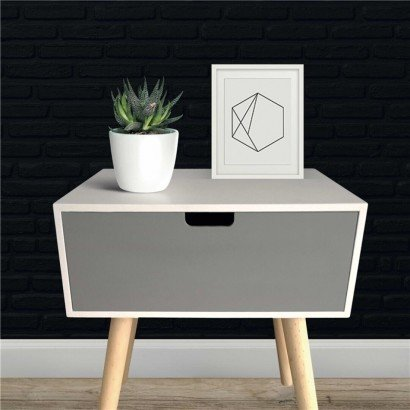 White and Grey BÉA Side Table
