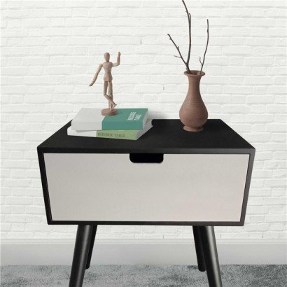 Black and White Side Table BÉA