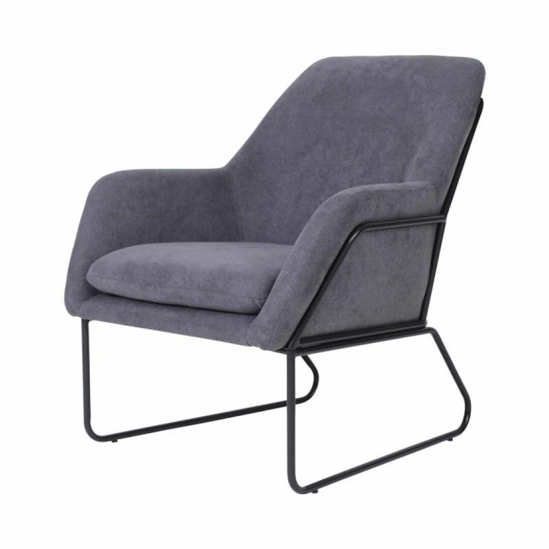 copy of FINDA chair feet metal and velvet blue