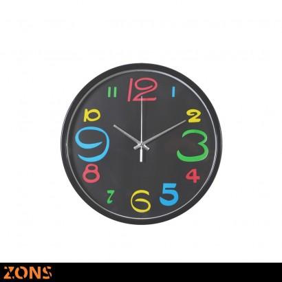 Horloge Murale D29cm 2 couleurs NOIR
