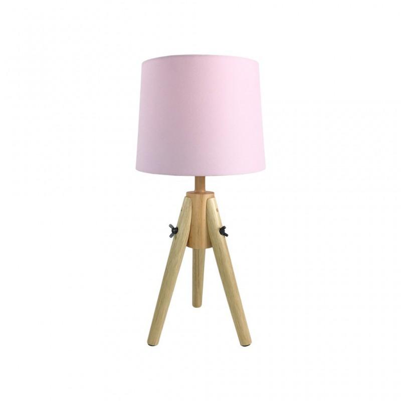 Lampe Scandi En Bois 23x23xH48cm ROSE