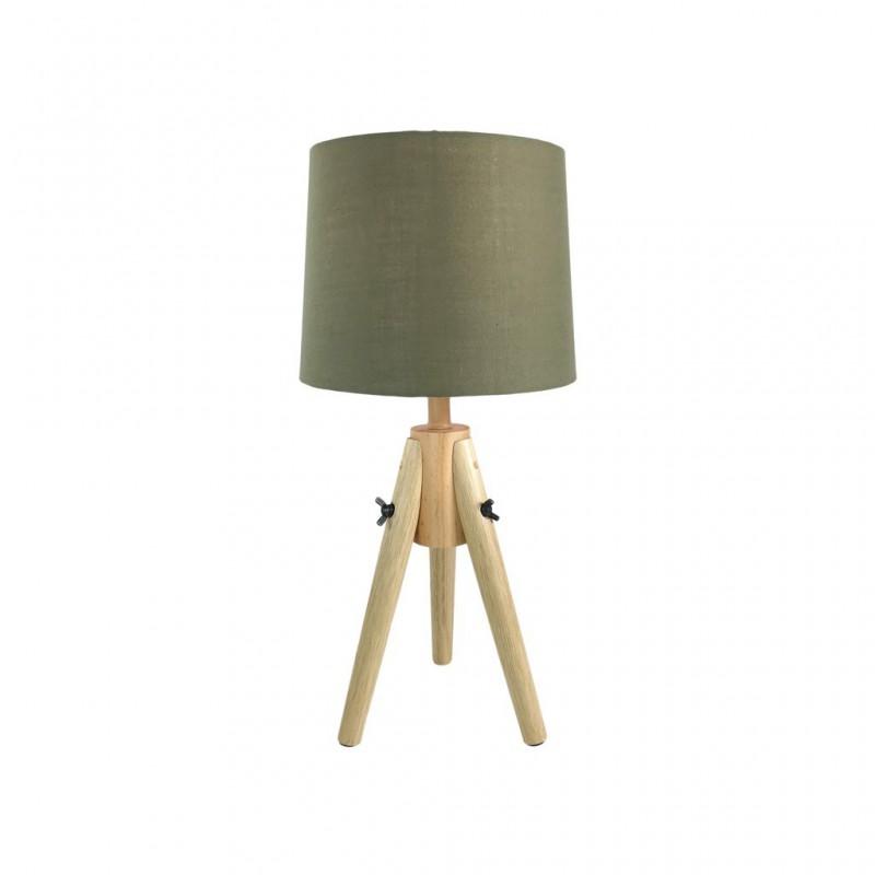 Lampe Scandi En Bois 23x23xH48cm KAKI