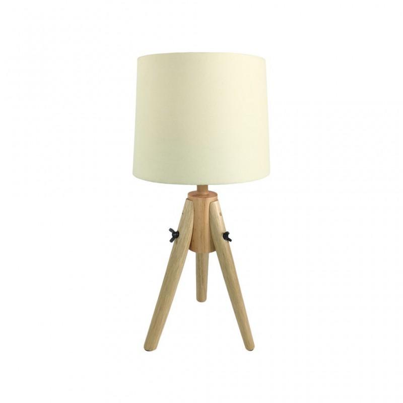 Lampe Scandi En Bois 23x23xH48cm BEIGE