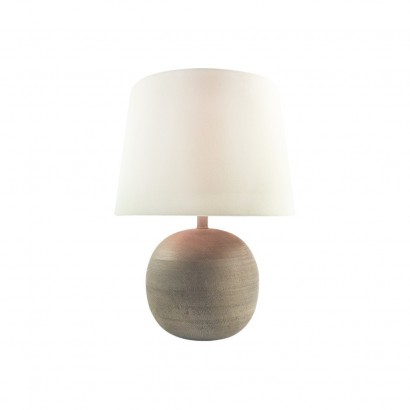 Lampe En Bois 23x23xH30cm BEIGE