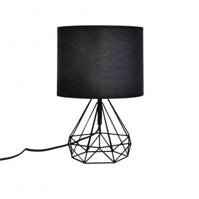 Lampe À Poser Filaire Géométrique 19xH35.5cm NOIR