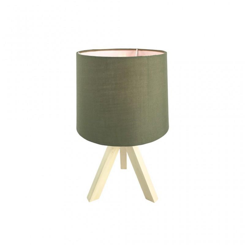 Lampe Scandi En Bois 23x23xH37cm KAKI