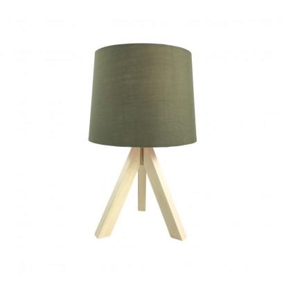 Lampe Scandi en bois Kaki