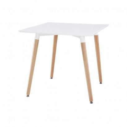 Table Carrée 80x80xH72cm Blanc