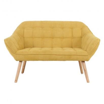 FELIZ canapé L. 127 P. 75 x H. 76 cm suédine Jaune