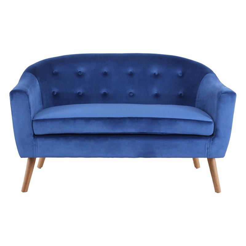 KLARY sofa velvet L.130 x l.77 x H.78cm