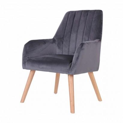 Chaise à accoudoirs en velours