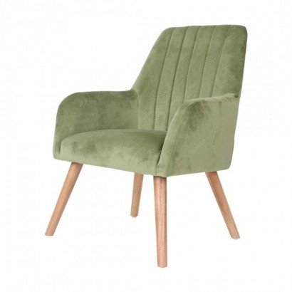 Chair with velvet armrests...