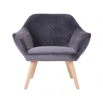 Velvet Armchair HESTER -...