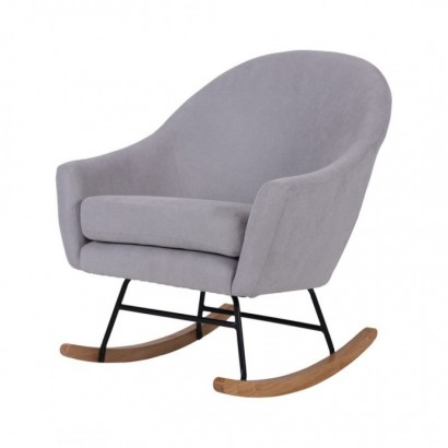 Suede Rocking Chair MOKA -...