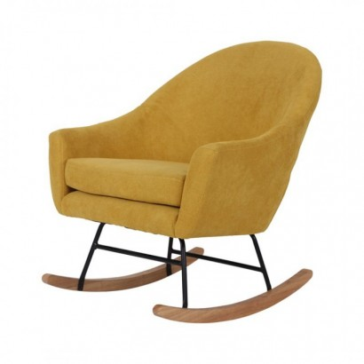 Suede rocking chair -...
