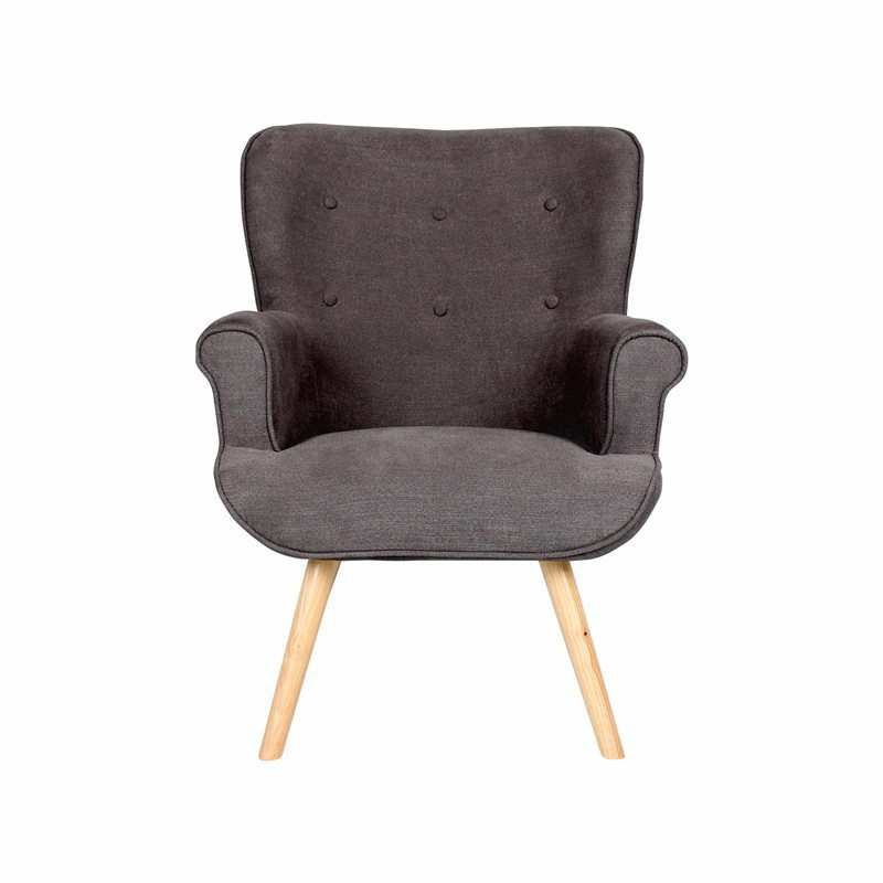 DANIO Fabric Armchair with Wooden Legs