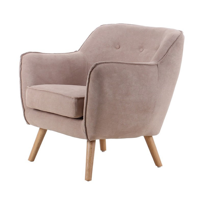 Suede Armchair BRISTOL Color Beige Collection Bristol