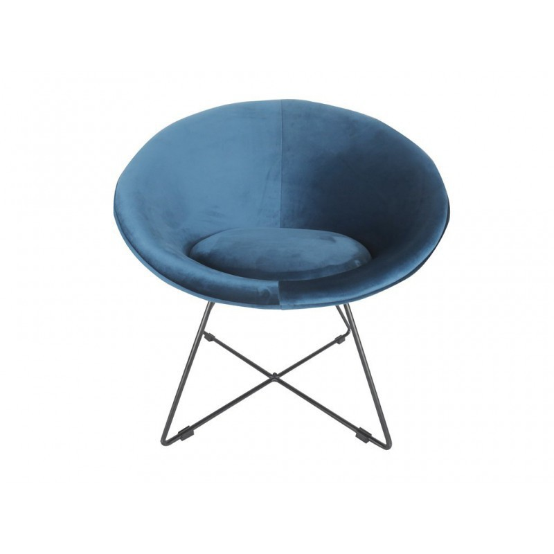 Hague aged 73x62xH71cm velvet Chair