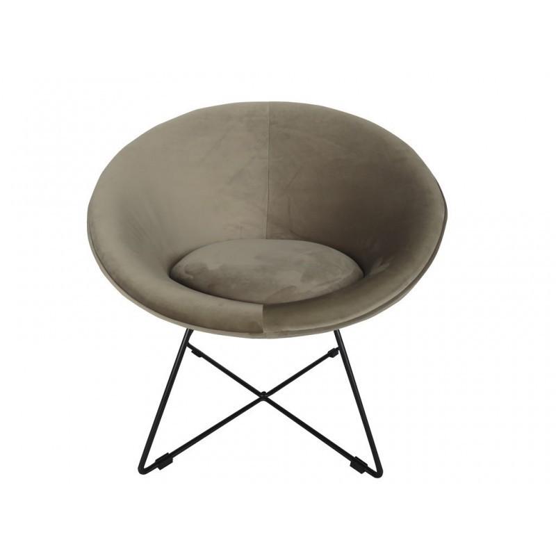 Hague Velvet Armchair