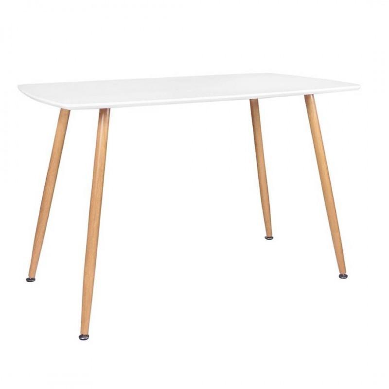 ROMA Table rectangulaire BLANC