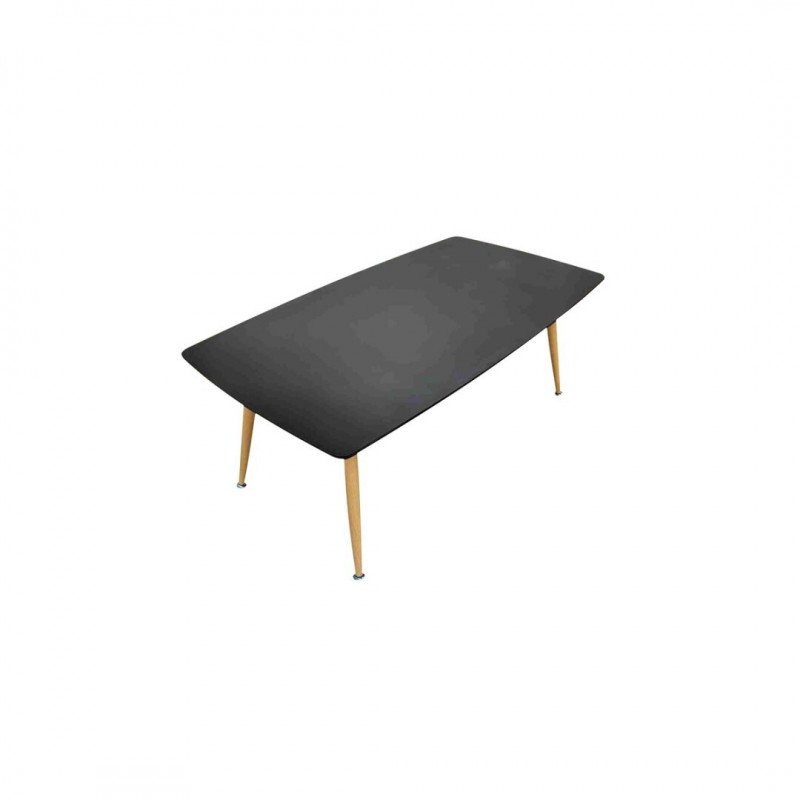 ROSA Table basse en bois NOIR