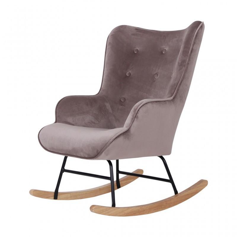 Fluwelen schommelstoel MAMA