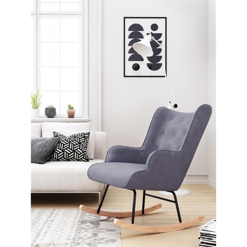 Rocking Chair Fabric Armchair Colors Bascule Tissu Gris
