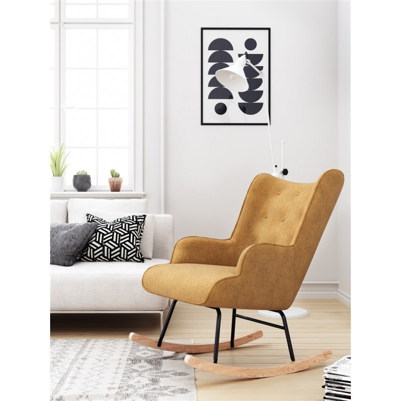 Rocking Rocking Chair H92X100X68CM suede Chair