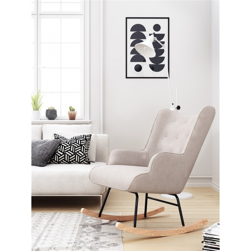 Rocking Chair Fabric Armchair