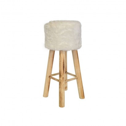 Tabouret bar  imitation fourrure 30x30xH68cm