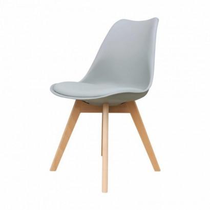 ALBA-stoel met houten poten