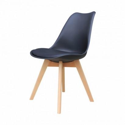 ALBA Chaise avec pieds en...