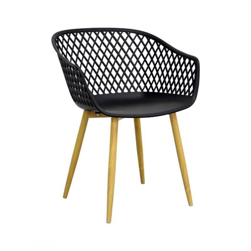MOKA Indoor/Outdoor dining chair with crosspiece